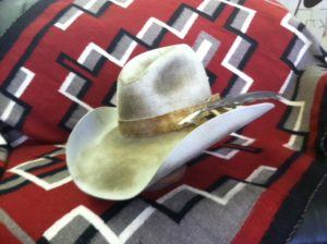anitqued custom cowboy hat made by Montana Peaks Hat Company