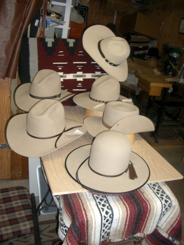 Custom sand colored cowboy hat